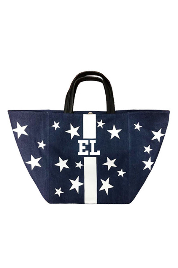 Denim Large Tote w/ Stars