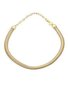 Gold Snake-chain Necklace