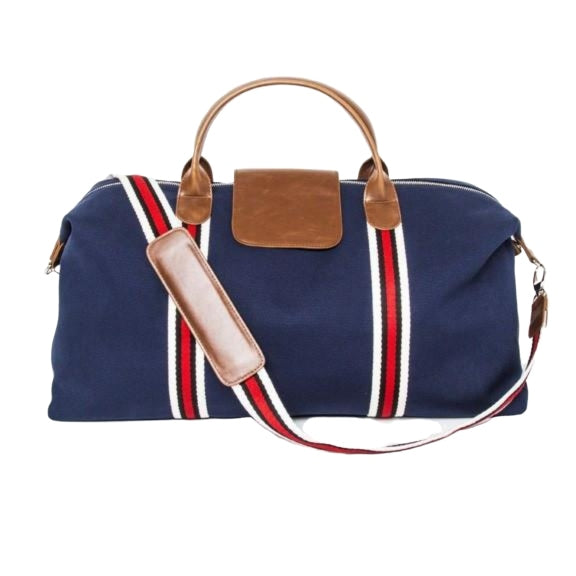 Brouk&Co Navy Stripe Duffle Bag