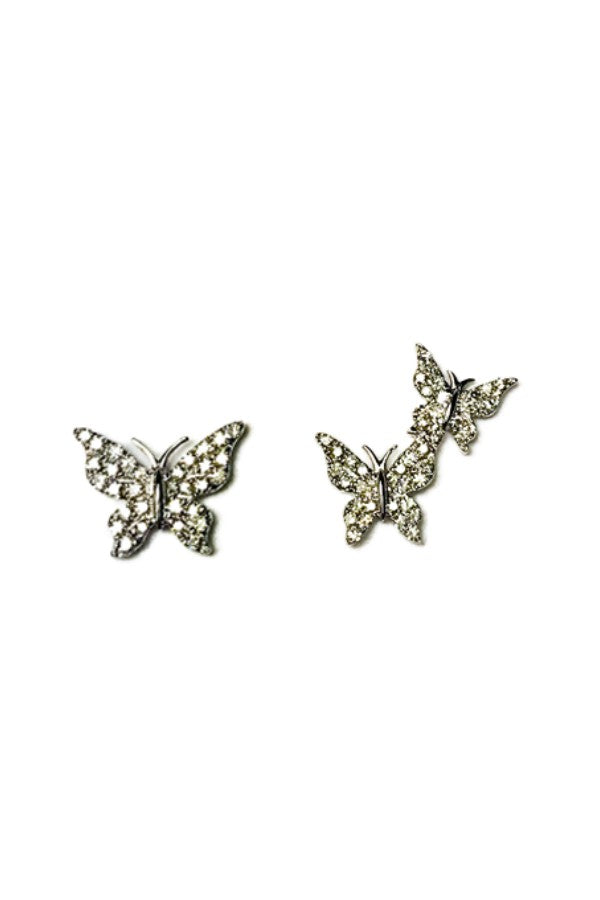 White Gold Single & Double Diamond Butterflies
