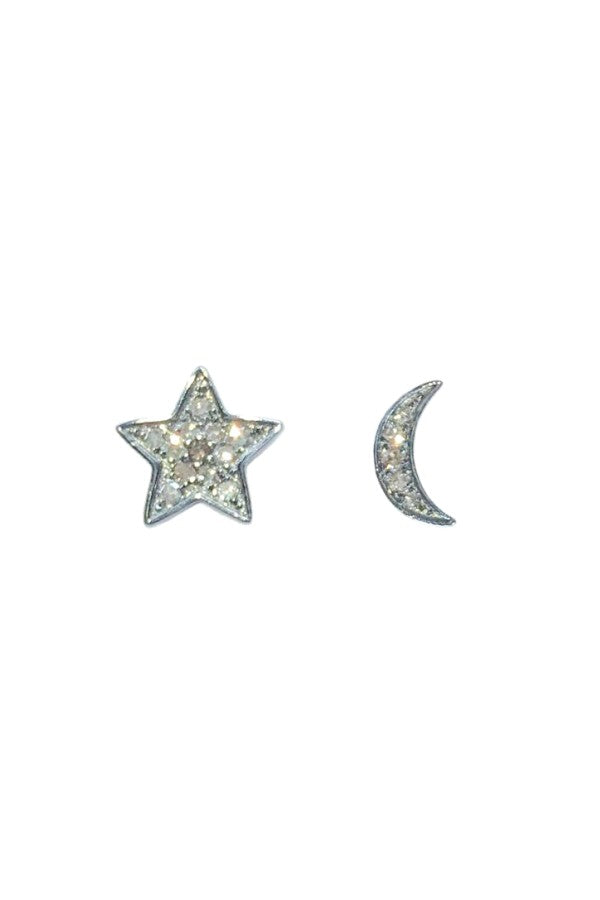 Silver Diamond Star & Moon