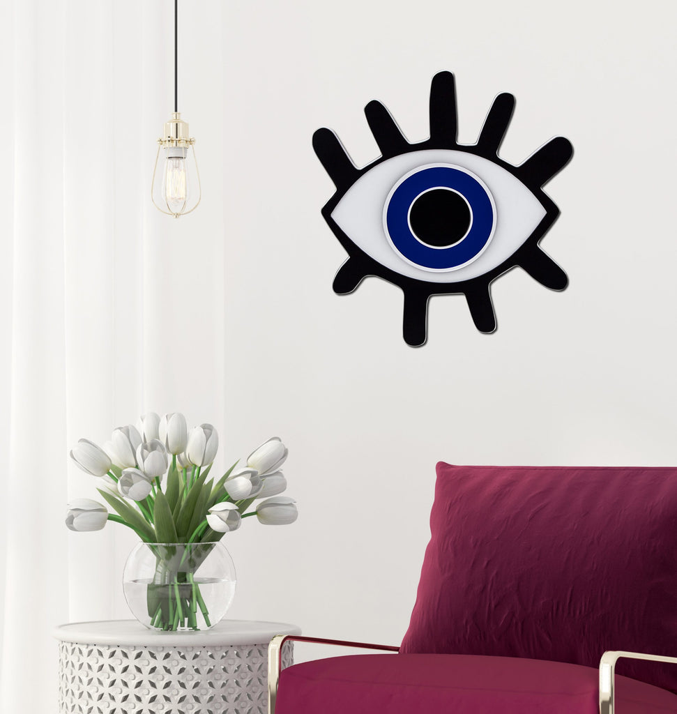 4artworks Lashed Evil Eye Wall Sculpture Decor