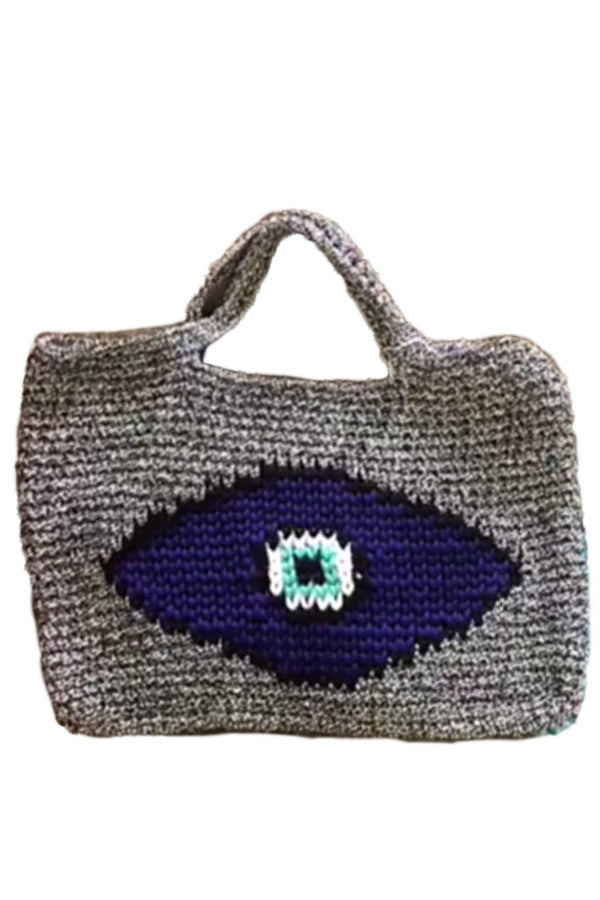 Evil Eye Crochet Beach Bag