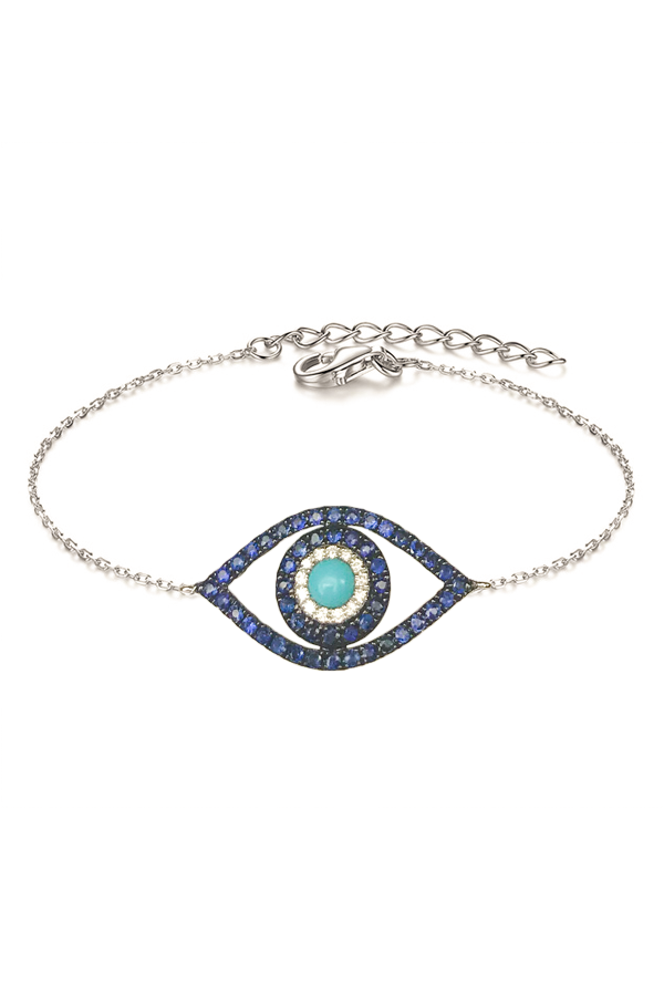 Sapphire & Turquoise Evil Eye