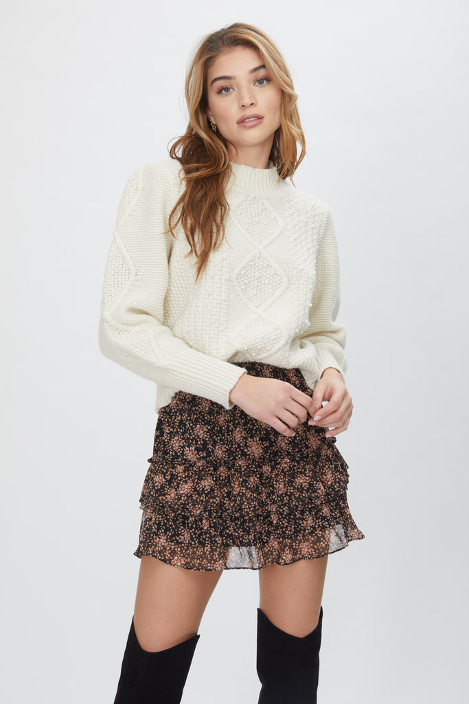 Generation Love Aspen Pearl Cable Sweater