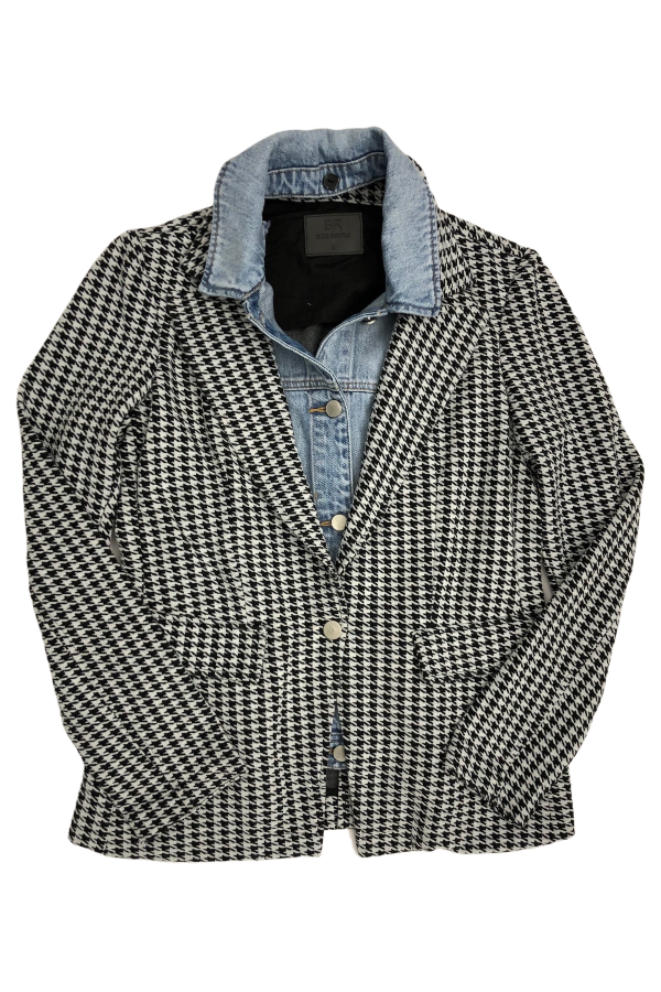 PRESALE Blue Revival Houndstooth & Denim Blazer
