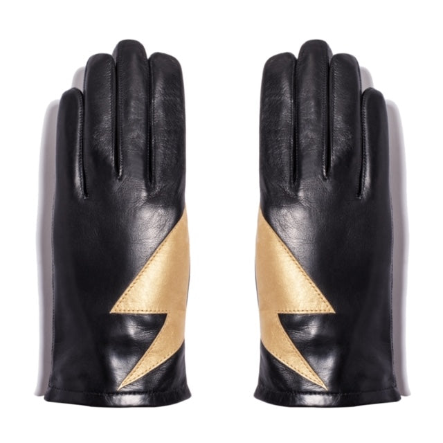 Leather Gloves with Bolt