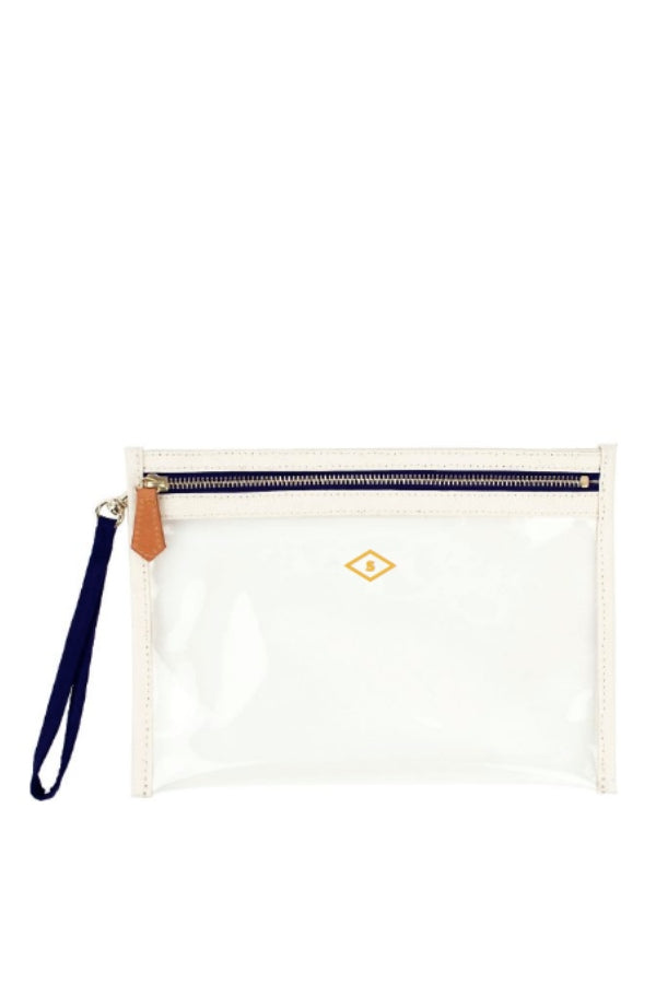 Small Clear Canvas Pouch w/ Monogramming