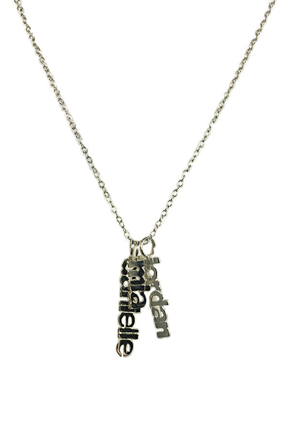 Custom Names Silver Necklace