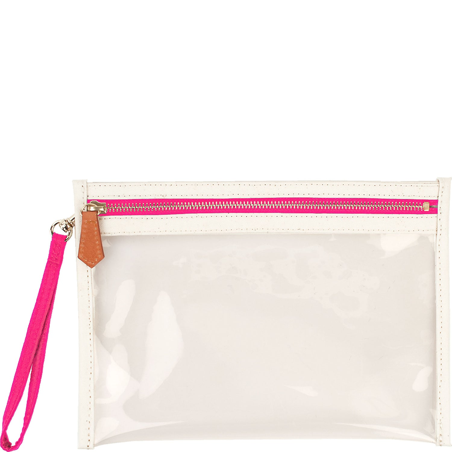 Large Clear Canvas Pouch w/ Monogramming