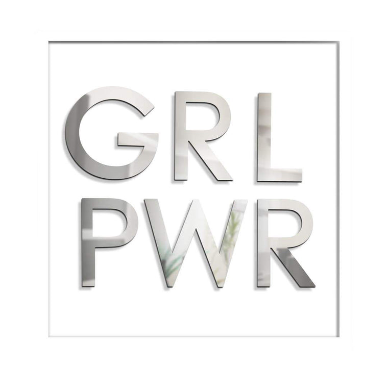 GRL PWR White Box Wall Sculpture