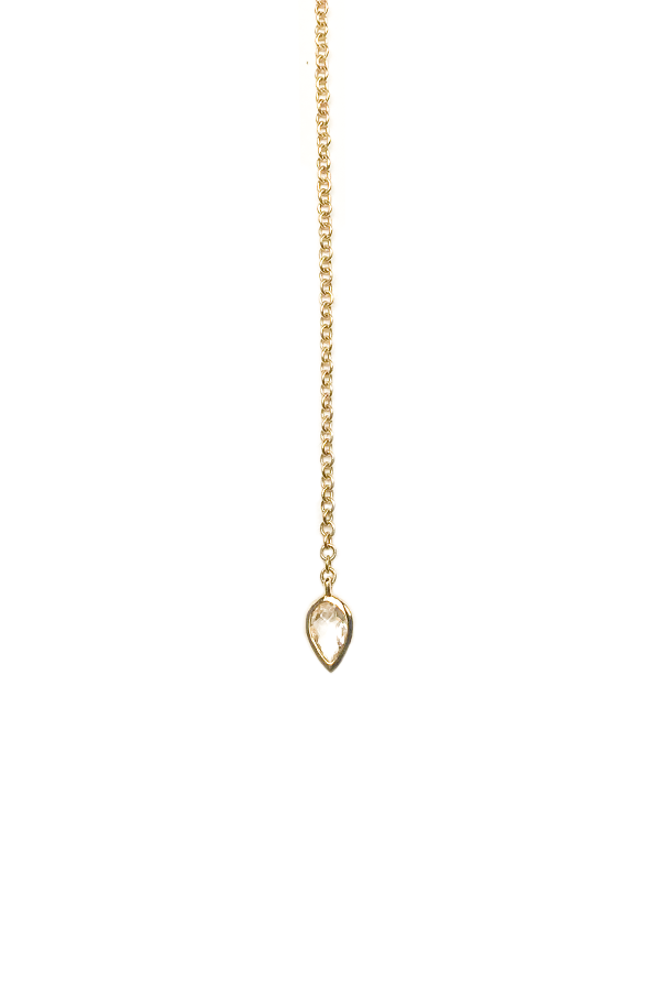 Diamond Open Lariat Yellow Gold