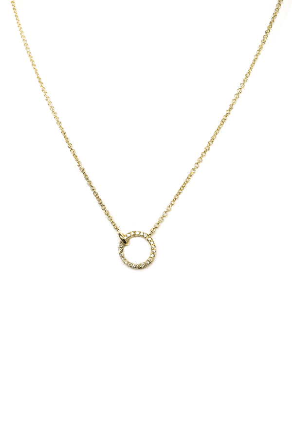 Diamond Open Ring Necklace
