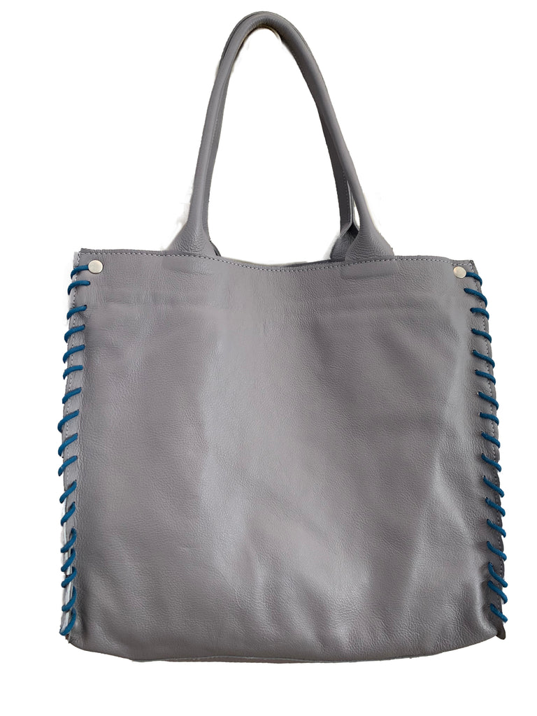 Leather & Pony Dark Grey Medium Tote