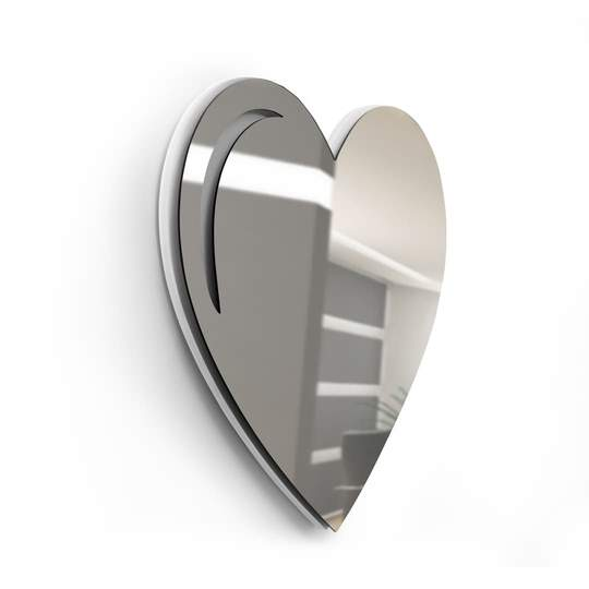Red or Silver Mirrored Heart Sculpture