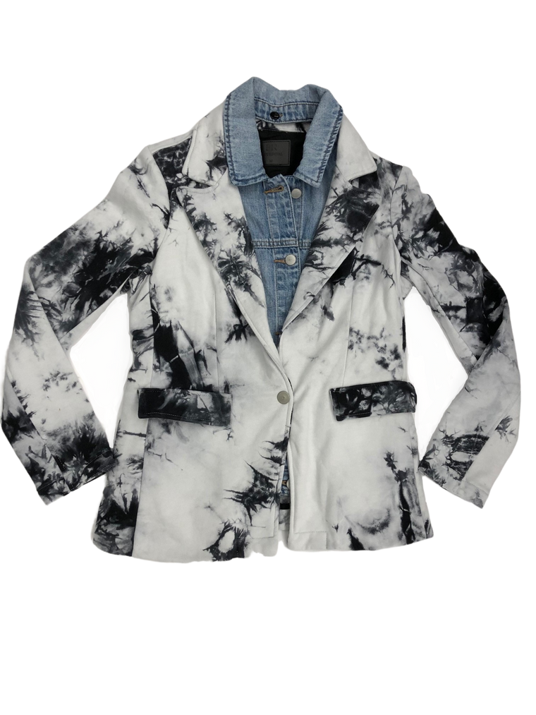 PRESALE Blue Revival Tie Dye & Denim Blazer