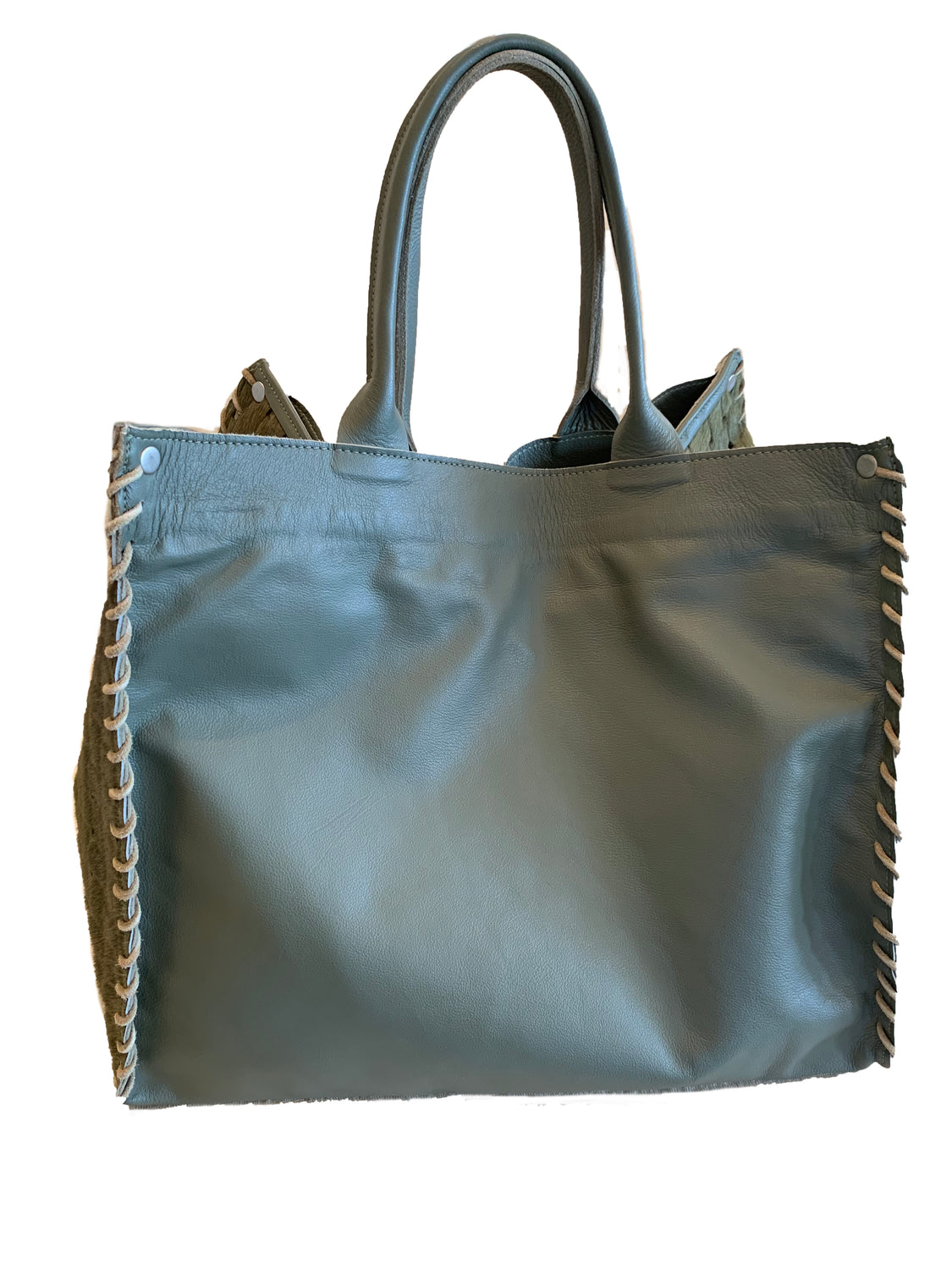 Leather & Pony Olive Large Tote