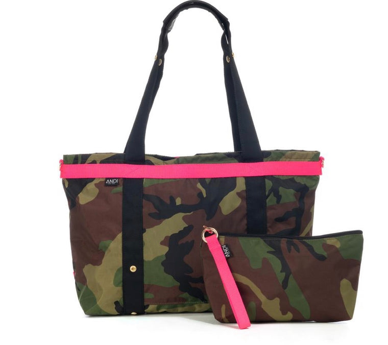 Large Camo Bag Pop Pink