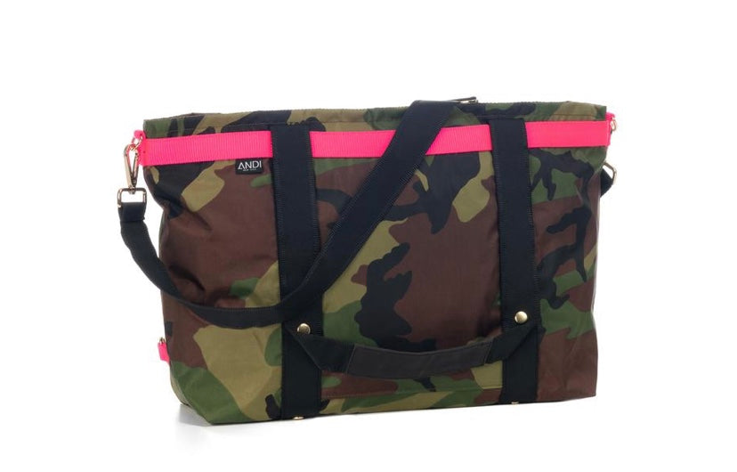 Andi Large Camo Bag Pop Pink