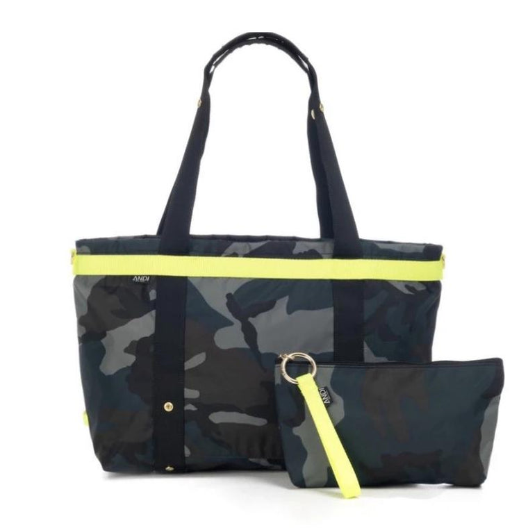 Andi Large Ink Camo Bag Yellow