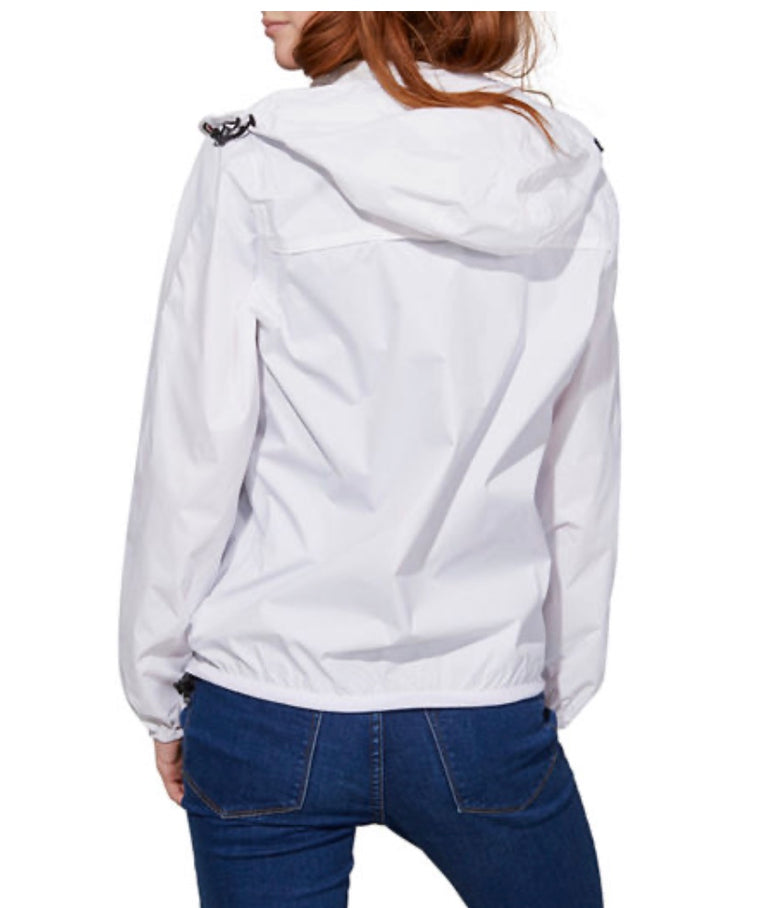 O8 Lifestyle Women's White Full Zip Packable Jacket