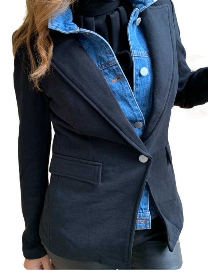Blue Revival Black & Denim Blazer
