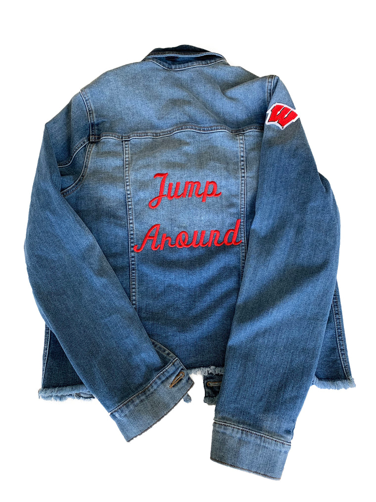 Denim Jacket with Custom Embroidery
