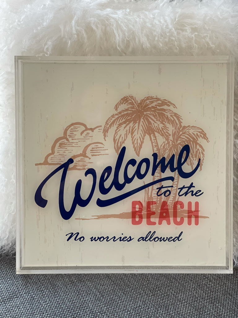 Acrylic Welcome to the Beach Tray