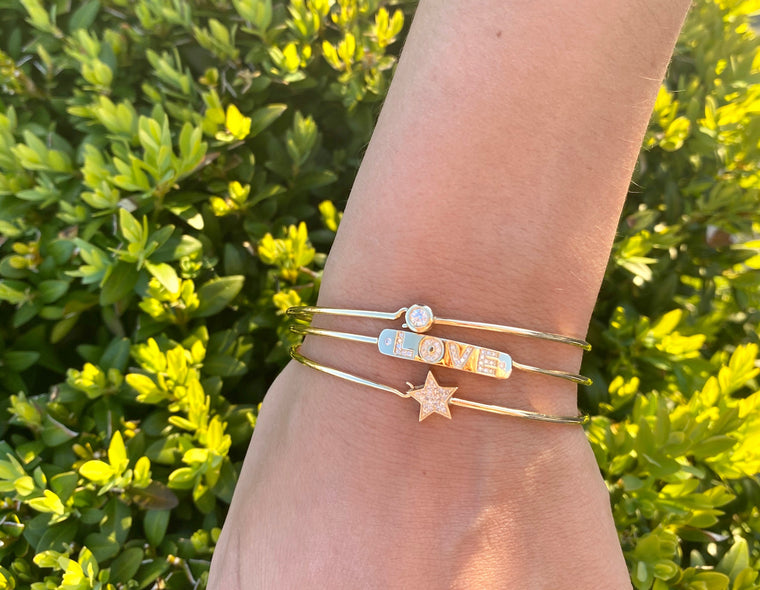Yellow Gold & Diamond Bangles