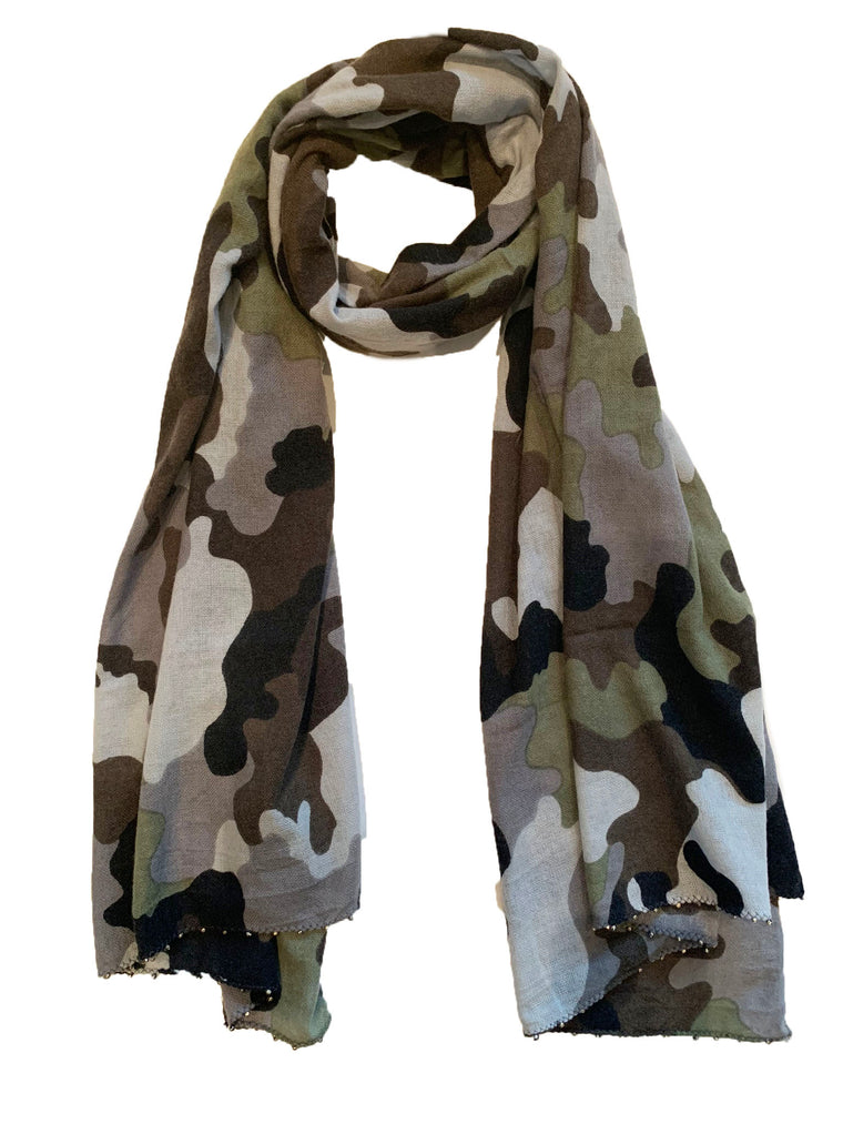 Olive Camouflage Scarf