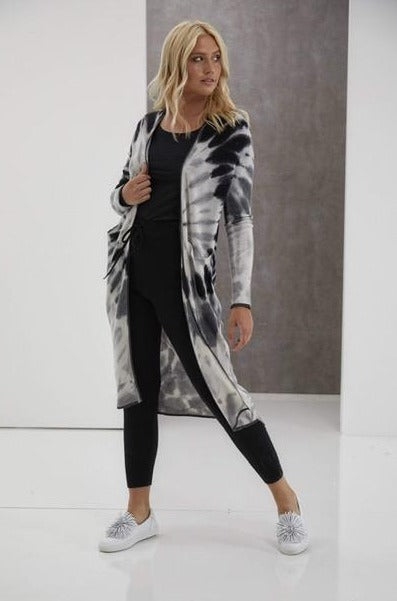 Brodie Cashmere Florence Tie Dye Maxi Cardigan