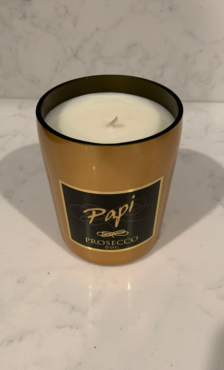 Papi Prosecco Gold Candle