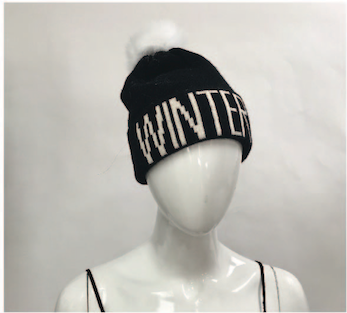 WINTER/CHILL Knitted Fur Pom Hat