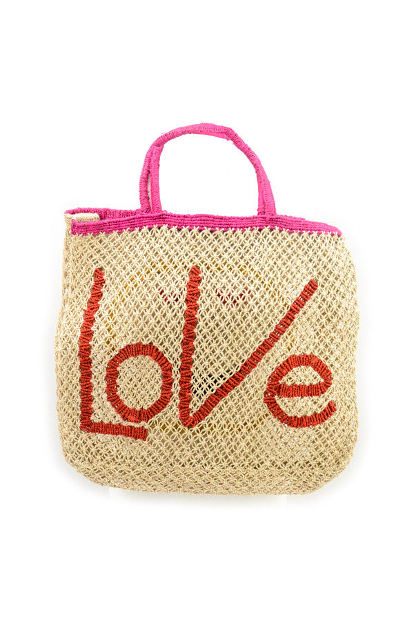 Jute 'Love and Emoji' Tote
