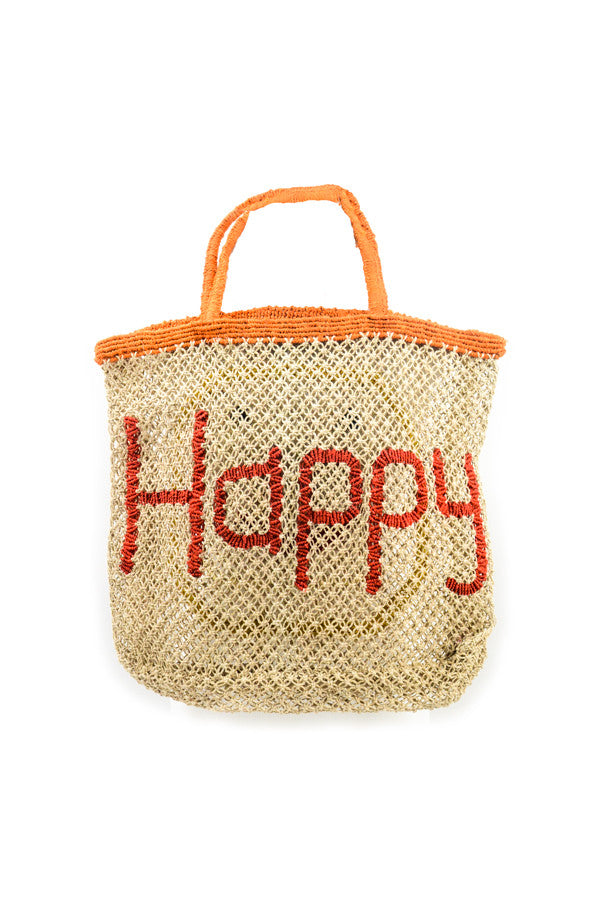 Jute 'Happy and Emoji' Tote