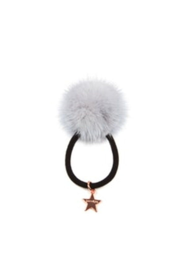 Jocelyn Grey Mink Pom Pony