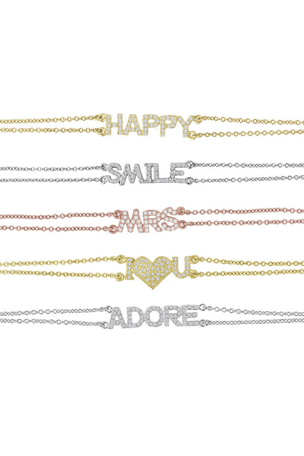 Custom 'Mantra' One Word Bracelets