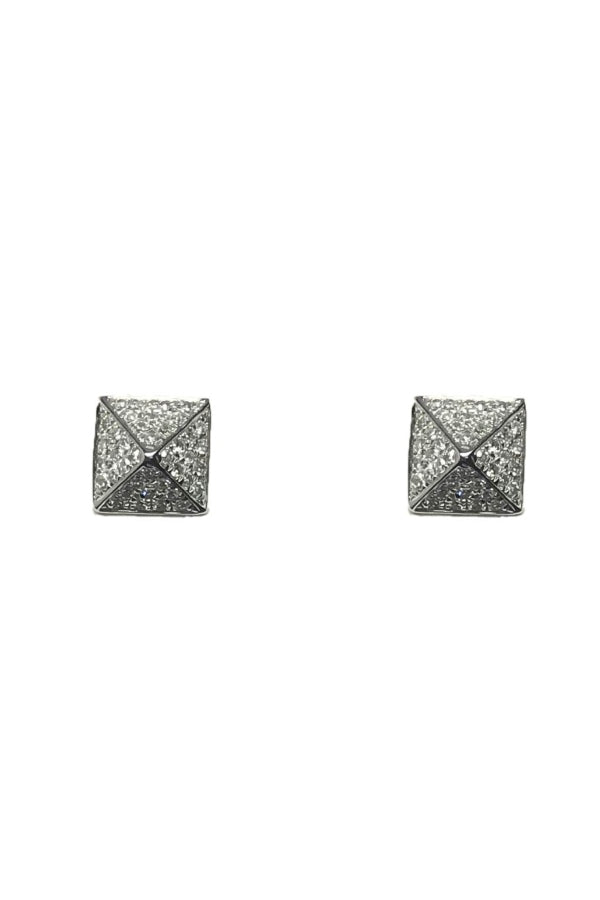 Pyramid Pave Diamond Studs