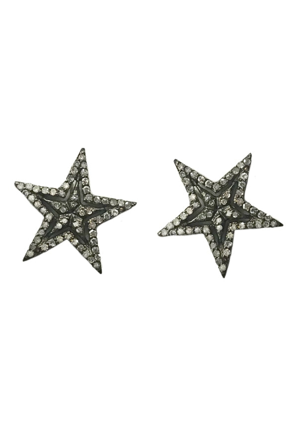 Large Silver Diamond Stars