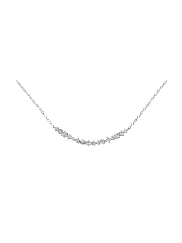 Diamond Rounded Bar Necklace
