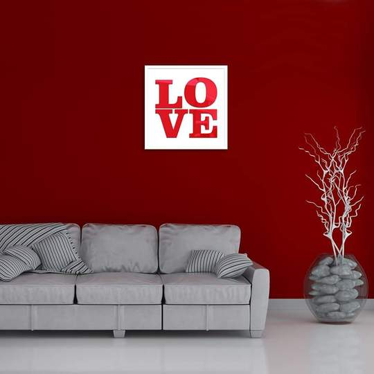 White with Red or Silver LOVE Sculpture