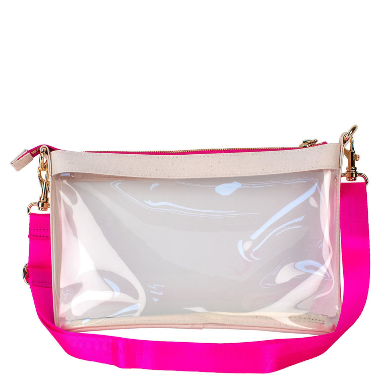 Boulevard Clear Crossbody w/ Monogramming