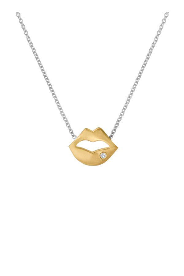 Lip Necklace (Yellow or Rose Gold)