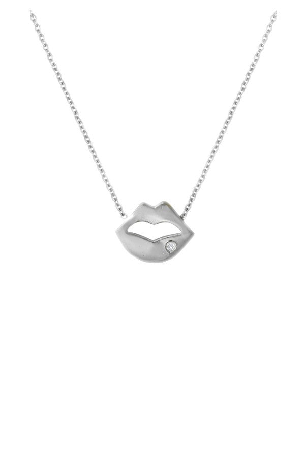 Silver Lip Necklace