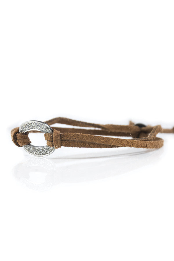 Bracelet Diamond Open Small on Suede