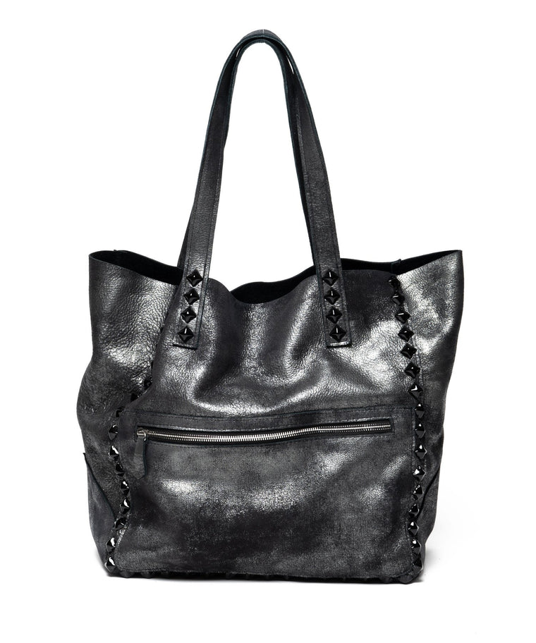 Miley Studded Tote Gunmetal