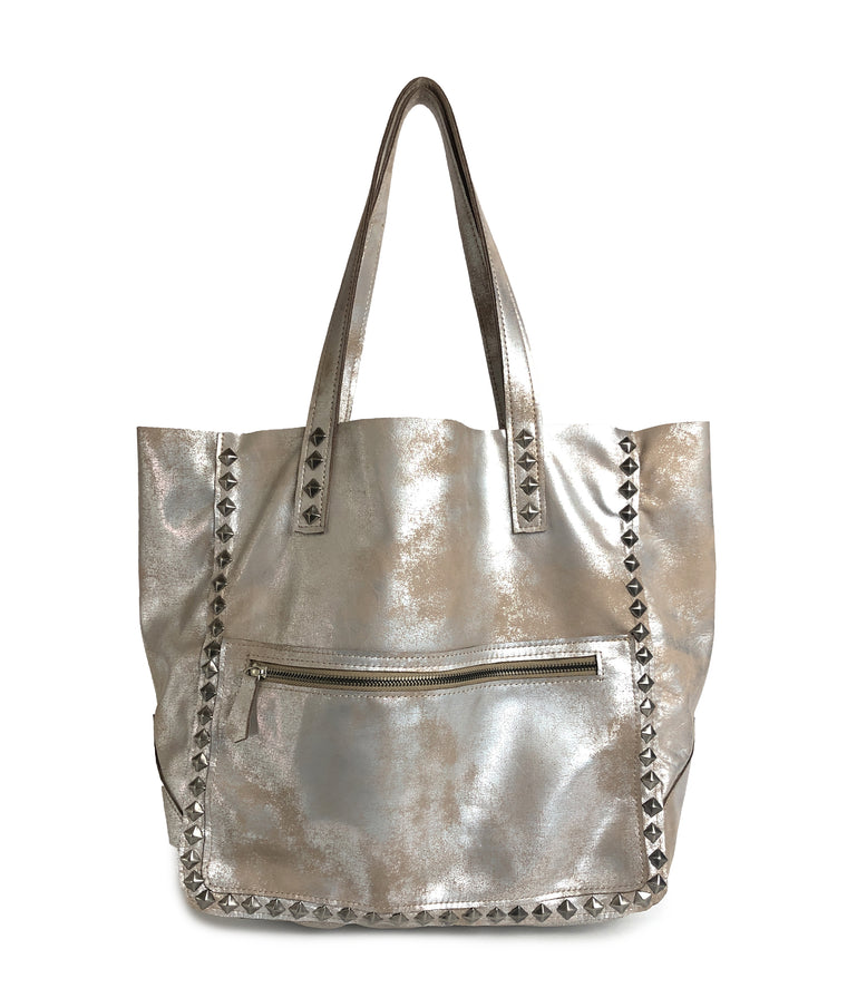 Miley Studded Tote Rose