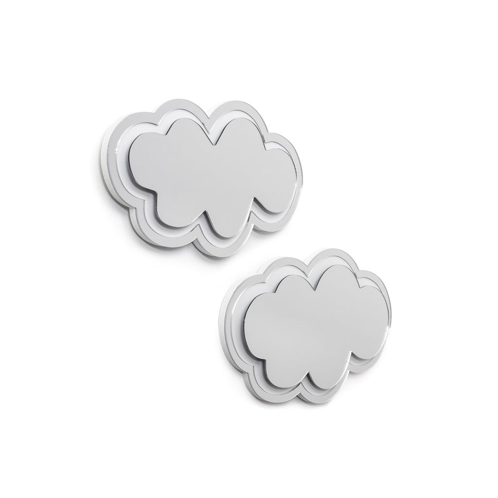 Mirrored Clouds Wall Sculpture Decor