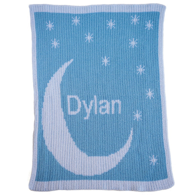 Butterscotch Moon & Stars Name Blanket