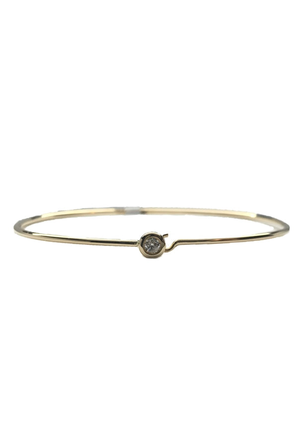 Yellow Gold Diamond Hook Bangle